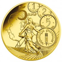 5 Euro France BE 2020 Semeuse Charles de Gaulle