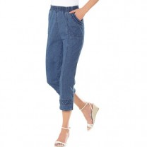 Pantacourt denim extensible
