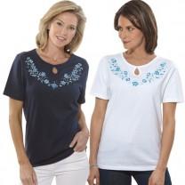 Tee-shirts brodés Myosotis - les 2
