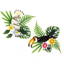 Oiseaux exotiques décoratifs