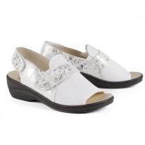 Sandales extensibles argentées