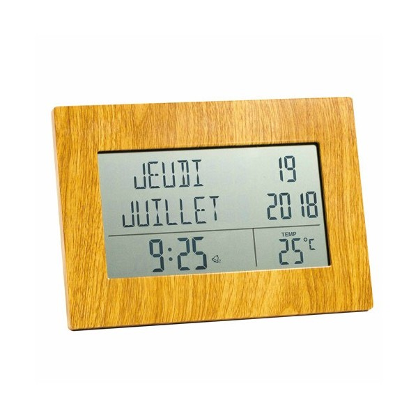 Horloge-calendrier radio-pilotée
