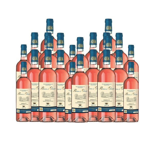 Baron de Clarsac Rosé 2019 - les 24 (soit 6 bouteilles OFFERTES)