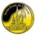 Notre Dame de Lourdes dorées à l'Or fin