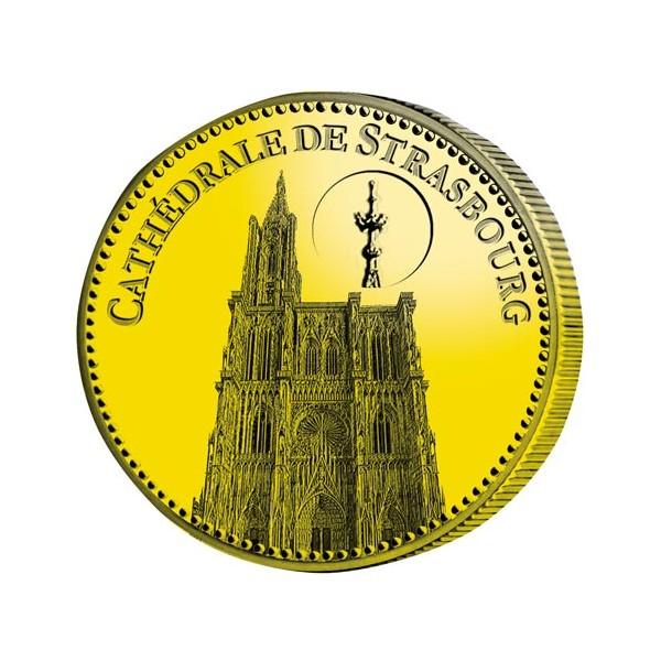Cathédrale de Strasbourg dorées à l'Or fin