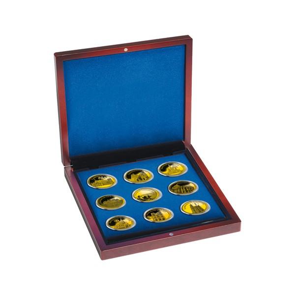 Le coffret des neuf pièces dorées à l'Or fin 24 carats Châteaux & Cathédrales de France
