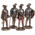 Les quatre figurines D'Artagnan et les trois Mousquetaires