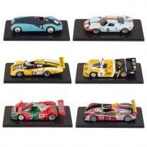 Les six maquettes 24 Heures du Mans
