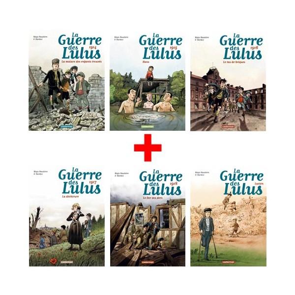 Lot de 6 ouvrages La Guerre des Lulus : Tomes 1 à 6