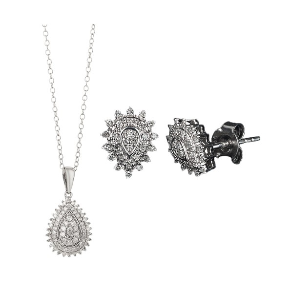 La parure goutte de diamants