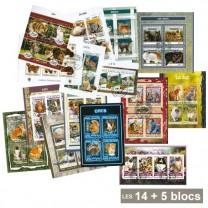19 blocs* feuillets chat dont 5 blocs offerts !