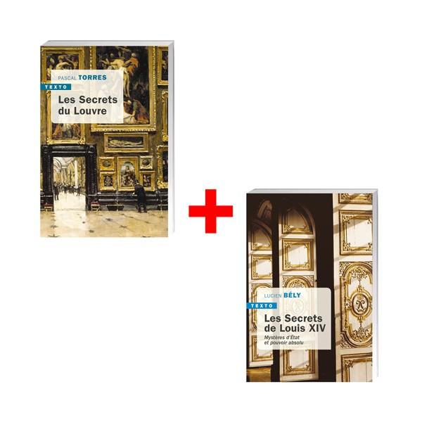 Lot de 2 ouvrages : Les Secrets du Louvre + Les Secrets de Louis XIV