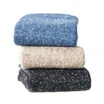 Chaussettes laine & soie - les 3 paires