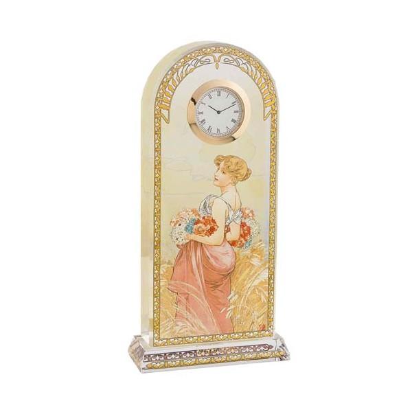 L'horloge Été Alfons Mucha
