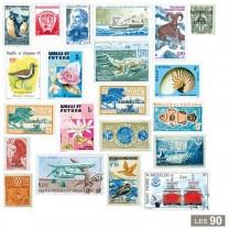 90 timbres territoires Français d'outre-mer