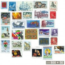 800 timbres Scandinavie + 50 timbres Islande OFFERTS
