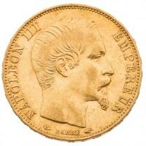 """La 20 Francs Or Napoléon III """"Tête Nue"""""""