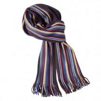 Écharpe tricot rayée
