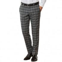 Pantalon laine à carreaux Pierre Clarence