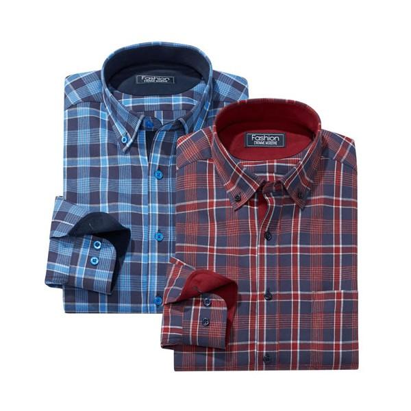 Les 2 chemises carreaux Canadiens