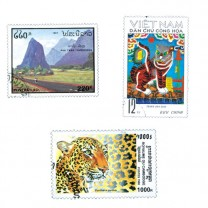 1100 timbres la Peninsule Indochinoise + 100 timbres Malaisie OFFERTS
