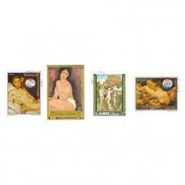 50 timbres les Tableaux de Nus