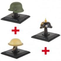 Les trois casques militaires des Guerres mondiales
