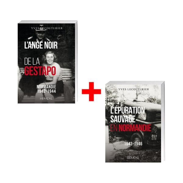 Lot de 2 ouvrges : L'ange noir de la Gestapo Normandie - 1942-1944 + L'épuration sauvage en Normandie  1943-1946