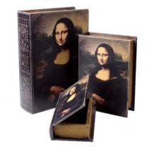"Le set de 3 livres à secrets ""La Joconde"""