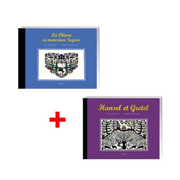 Lot de 2 ouvrages : La Chèvre de Monsieur Seguin + Hansel et Gretel