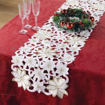 Chemin de table «Étoile de Noël»