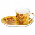 """La tasse et sa soucoupe """"Les Tournesols"""" d'après Vincent Van Gogh"""