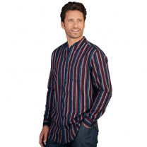 Chemise flanelle col Mao