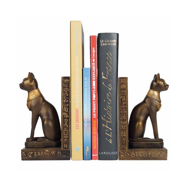 Les deux serre-livres Bastet