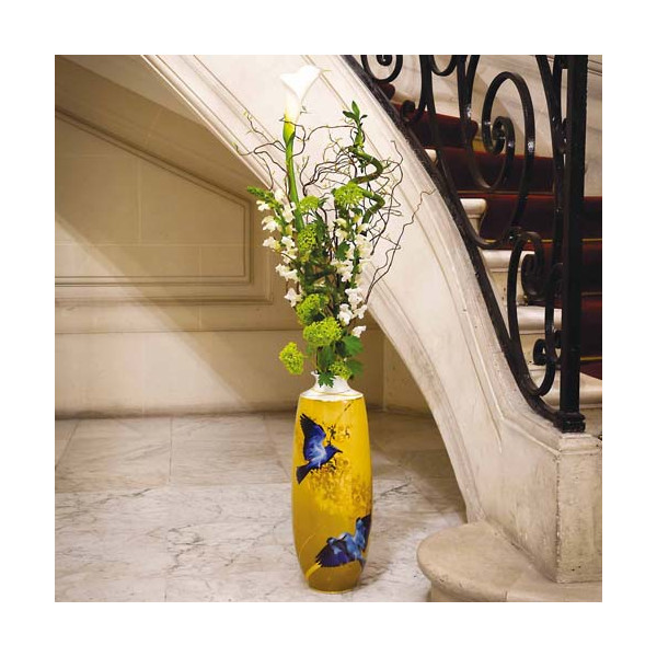 """Le grand vase """"Oiseaux bleus"""""""