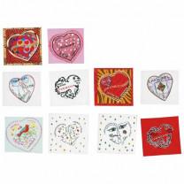 Les 10 timbres cœur auto-adhésifs
