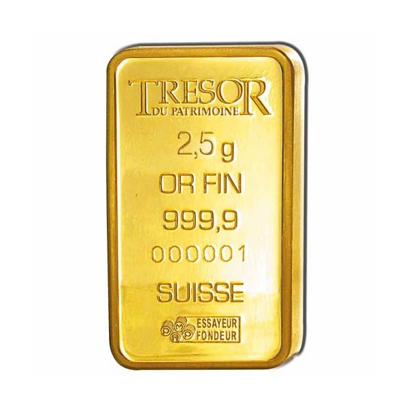 Le lingot d'or 2,5 grammes Napoléon III