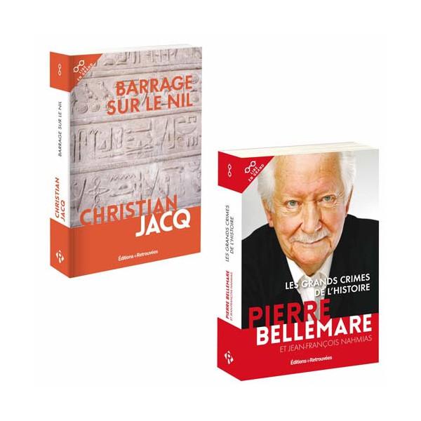 Lot de 2 ouvrages : Barrage sur le Nil + Les Grands Crimes de l'Histoire