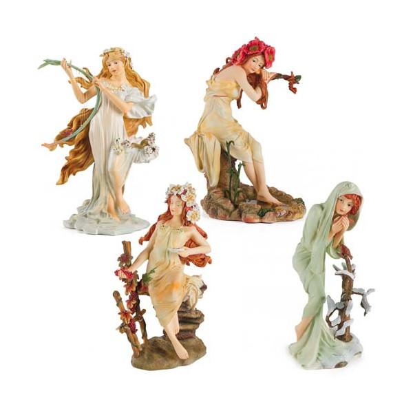Les statuettes des quatre saisons Mucha