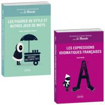Lot de 2 ouvrages : Les Expressions idiomatiques françaises + Les Figures de style et autres jeux de mots