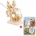 La statuette de Saint-Georges + carte OFFERTE