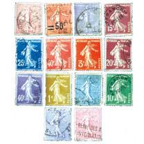 Les 50 timbres oblitérés
