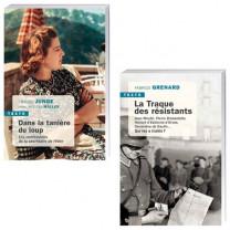 Lot de 2 ouvrages : Dans la tanière du loup + La Traque des résistants