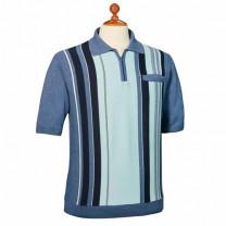 Polo tricot jacquard