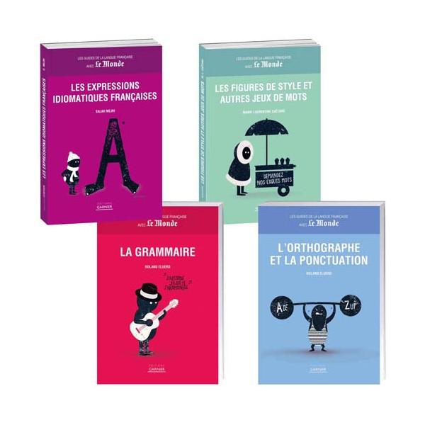 Lot de 4 ouvrages : Les guides de la langue française
