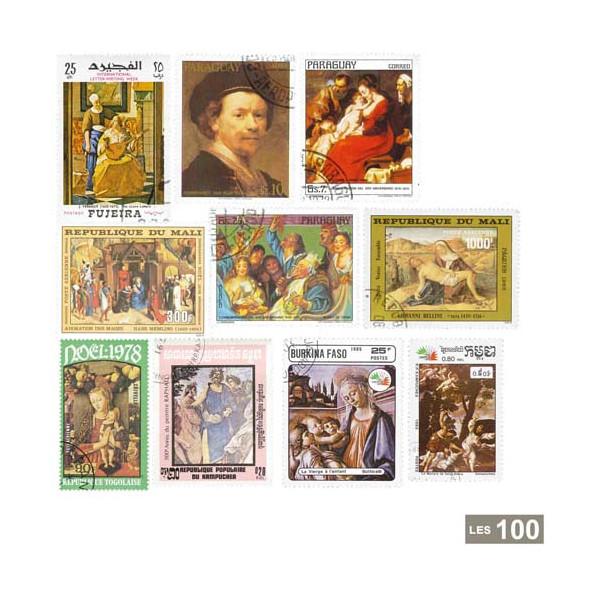 100 Timbres Les Peintres