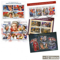 Les 12 Blocs Reine Elisabeth II