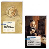 Lot de 2 ouvrages : L'Affaire des poisons + Histoire de la médecine