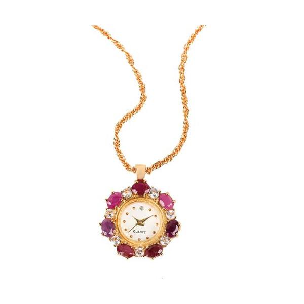 Le collier-montre rubis