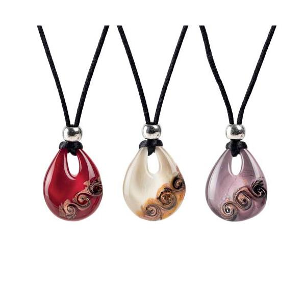 Les 3 pendentifs goutte de Murano